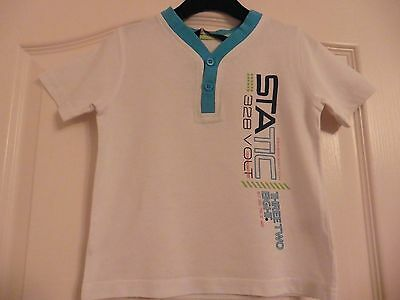 Baby Boys White T-Shirt with print for age 1 1/2-2 years