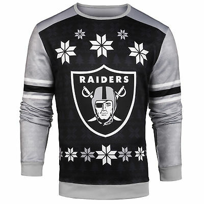 Forever Collectibles NFL Men's Oakland Raiders Printed Ugly Sweater