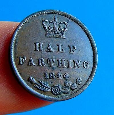 DECENT  VICTORIAN  1844  EF  HALF  FARTHING  1/2 of a 1/4d....LUCIDO_8  COIN