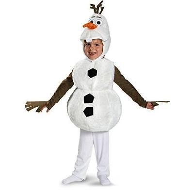 Disguise Baby's Disney Frozen Olaf Deluxe Toddler Costume,White,Toddler L New