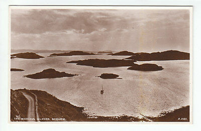 The Badcaul Islands Scourie Sutherland Real Photograph JB White A2181 Old PC