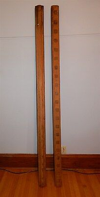 BEAUTIFUL ANTIQUE OAK BANISTER RAILING ARCHITECTURAL SALVAGE PARTS Top Bottom 7'