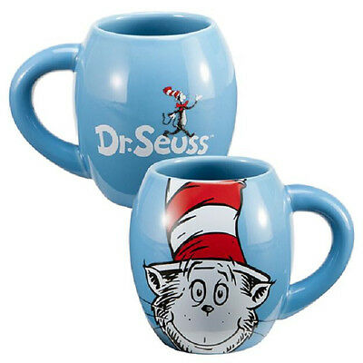 "Dr. Seuss ""Cat in the Hat"" 18 oz. Ceramic Oval Coffee Mug"
