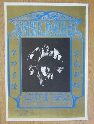 Grateful Dead Golden Road Fan Club 1967 Poster Stanley Mouse Original Rare