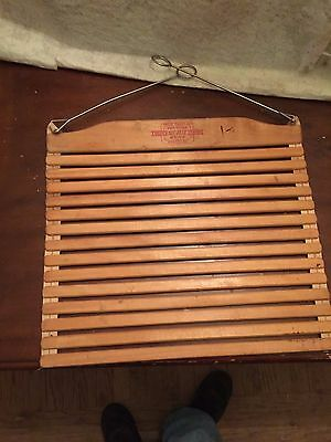 Vintage Posture Sit Right Back Saver Wooden Slat Seat Made in Canada