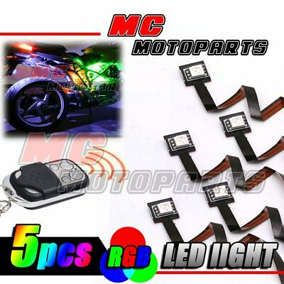 RGB Tiny SMD 5050 LED Mini Frame Accent Lights For Yamaha Motorcycle