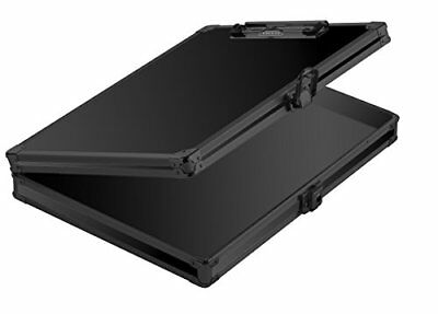 Vaultz Locking Storage Clipboard, 2.15 x 12.75 x 9.75 Inches, Tactical Black New