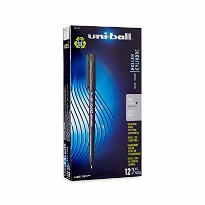 uni-ball ONYX Rollerball Pen, Fine Point (0.7mm), Black, 12 Count New