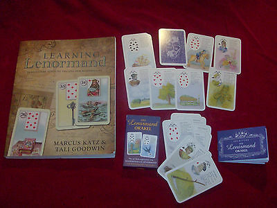 LEARNING LENORMAND book with new German CARD DECK