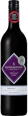 Rosemount `Diamond Label` Merlot 2014 (6 x 750mL), SE AUS.
