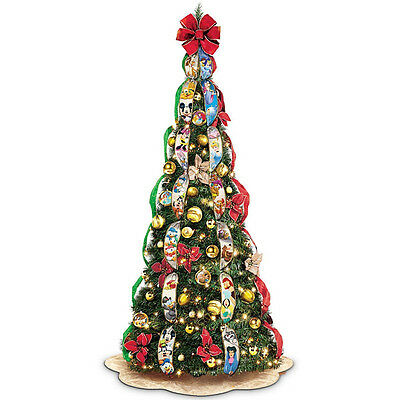 Disney Pop Up Fully Decorated & Lighted Christmas Tree Holiday Decor New