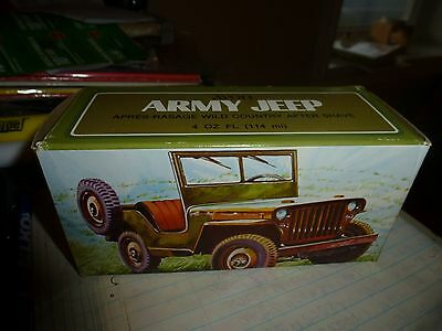 Vintage Avon , Army Jeep Bottle With Wild Country After Shave ,in Original Box