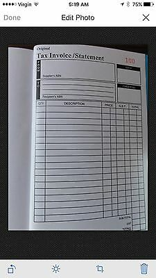 19 Carbonless Numbered Invoice Book For Sell