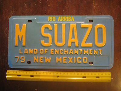 License Plate, New Mexico, Personalized Vanity, M SUAZO, Nice spleen!