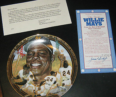 1993 Willie Mays Plate San Francisco Giants The Hamilton Collection #3454A