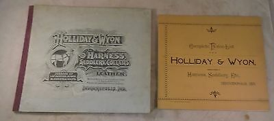 1890s HOLLIDAY WYON HORSE dealer SADDLE catalog Harness Collar Indianapolis