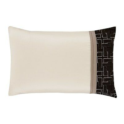 Catherine Lansfield Geo Embellished Pillowcases - Black