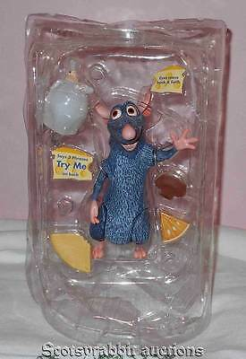 Disney RATATOUILLE Remy Action Figure & Accessories Cheese Eyes Move Back Forth