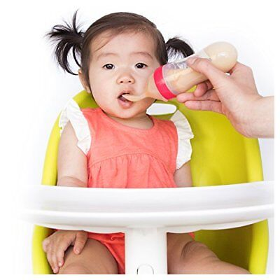 Nuby Garden Fresh Silicone Squeeze Feeder with Spoon and Hygienic Cover, Colors