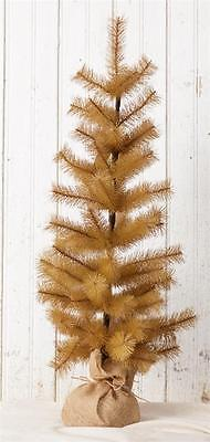 """Country new 33"""" tall Brown bottle brush christmas/decor tree / nice"""