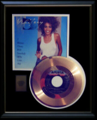 Whitney Houston  Gold Record Disc 45 Rpm  I Wanna Dance With Somebody Rare