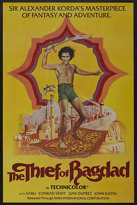 The Thief Of Bagdag Movie Poster Re-issue 1980`s