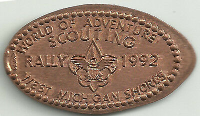 World Of Adventure Scouting Rally Elongated Penny - Copper