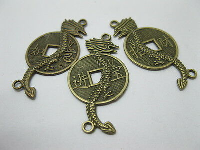 200 Chinese Feng Shui Fortune Dragon Coins Pendants