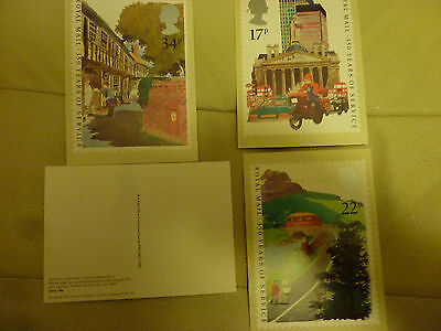 A Full Set Of 4 Post Office Postcards--  Royal Mail 350 Years Of Service