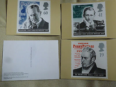 A Full Set Of 4 Post Office Postcards--  Communications