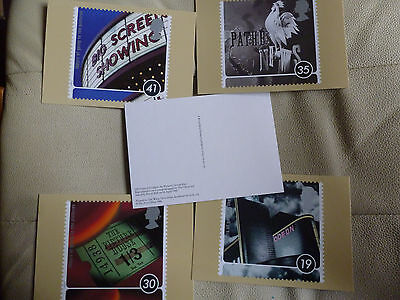 A Full Set Of 5 Post Office Postcards--  100 Years Of Going To The Pictures