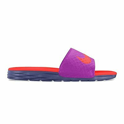 New Women's Nike Benassi Solarsoft Slide Sandals Purple/Crimson 6 7 8 9 10 11 12