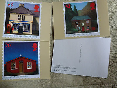 A Full Set Of 4 Post Office Postcards  --  Post Offices