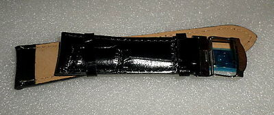 10 Black New Wristwatch Bands Signed Jean Muller