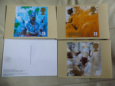 A Full Set Of 4 Post Office Postcards  --  Carnival