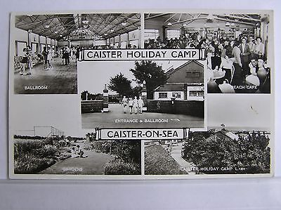 R/P MULTIVIEW POSTCARD - CAISTER ON SEA - NORFOLK - c.1955