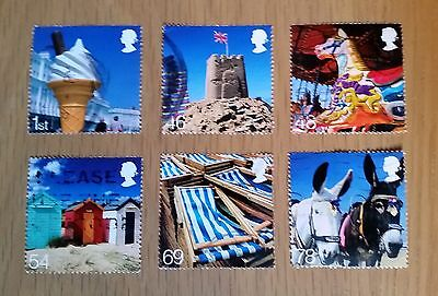 Complete British used stamp set - 2007 Beside the Seaside