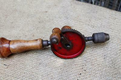 Vintage Stanley No. 620 Hand Crank Drill - Antique Egg Beater - Sweetheart Logo