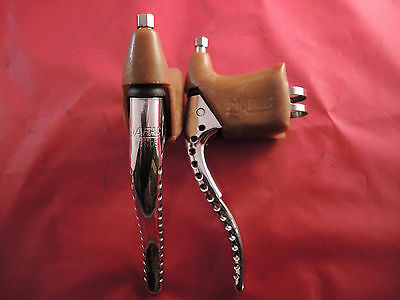 Vintage Mafac Course 429 Competition Brake Levers / Hoods / Adjusters - Polished