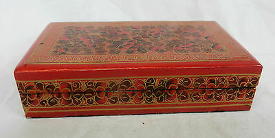 Vintage Kashmir Lacquer Hand Made and Decorated Box