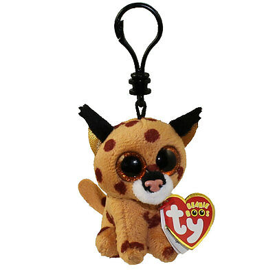 Ty Beanie Boos Buckwheat The Brown Linx Clip Keychain