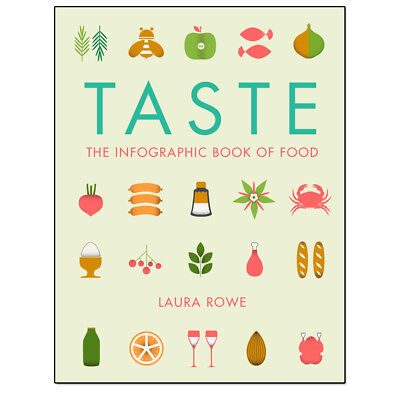 Taste: The Infographic Book of Food By Laura Rowe, NEW Hardback 9781781314630