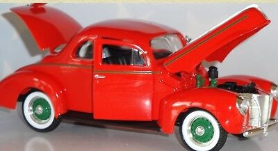 1940 Ford Coup Red Speccast Diecast 64101