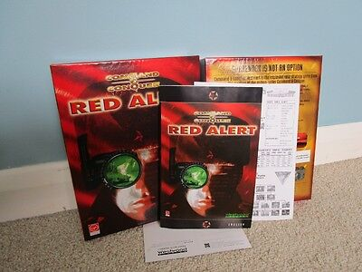 Command & Conquer Red Alert - PC CD ROM - Box & Manual Only -Excellent Condition
