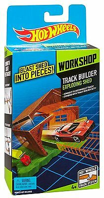 Hot Wheels Track Builder Workshop Toy - Exploding Shed