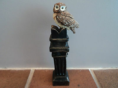"""Vintage (Hand Painted/crafted) """"little Owl On Chimney Pot""""-Gorgeous Item (Mint)."""