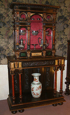 Italian polychromed Cabinet on stand dating from c 1860