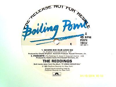 "The Reddings Where Did Our Love Go 12"" Single 1985 N/mint"