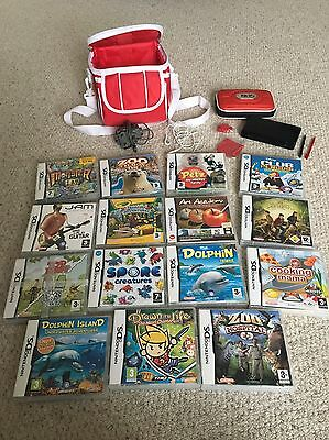 Nintendo DS Lite Bundle (Black Console & 15 Games)