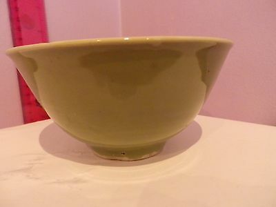 Superb Antique Chinese Pottery Green Bowl 12.5 Cms Diameter